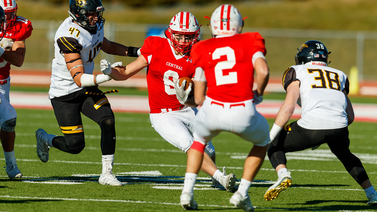 Central Faces Ncaa Football Playoff Road Obstacle At Wheaton